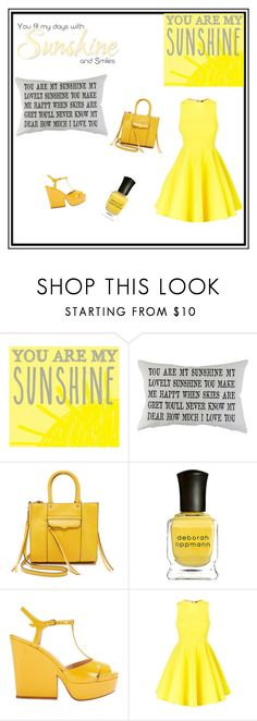 """Sunshine"" by fashionistawonderland ❤ liked on Polyvore featuring interior, interiors, interior design, home, home decor, interior decorating, New View, Park B. Smith, Rebecca Minkoff and Deborah Lippmann"