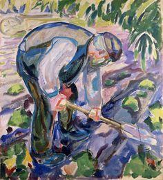 Edvard Munch (1863-1944) - The Grave Digger