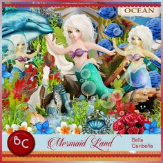 Mermaid Land (TS_U) [Bella Caribena] : Scrap and Tubes Store, Digital Scrapbooking Supplies