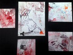 Cinderella Monoprints