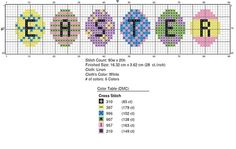 Free Easter Egg Cross Stitch. Just right click and save. It should be large enough! If you have problems seeing it, you can download the PDF file for free here:http://www.craftsy.com/pattern/embroidery/hand-embroidery/easter-egg-pastel-cute-cross-stitch/47172