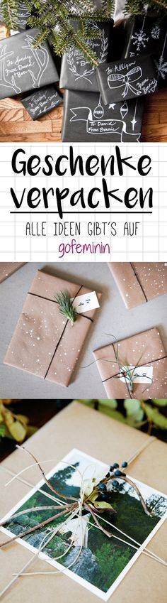 Günstig & genial: Die 10 besten Ideen, um deine Geschenke kreativ zu verpacken Always buy only wrapping paper and make a loop from gift ribbon – that's boring. Surprise your family and friends with. Gift Ribbon, Ribbon Bows, Paper Ribbon, Christmas Wrapping, Christmas Crafts, Halloween Crafts, Diy Gifts For Girlfriend, Natal Diy, Diy Cadeau