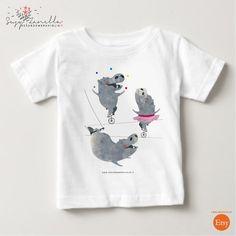 Magliette manica corta - TRE IPPOPOTAMI T-shirt - un prodotto unico di…
