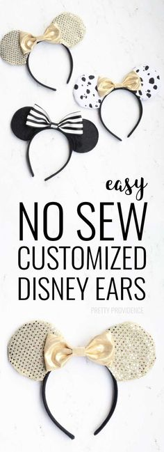 I love these easy DIY Mickey Ears! Perfect to wear to Disney World or Disneyland. Would also make for a great birthday party activity! #disney #disneysmmc #mickeyears #disneyworld #disneyland
