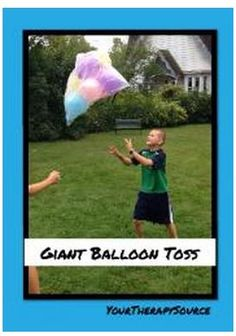 OT/PT Activity of the Week: Giant Balloon Toss - pinned by @PediaStaff – Please Visit ht.ly/63sNtfor all our ped therapy, school & special ed pins