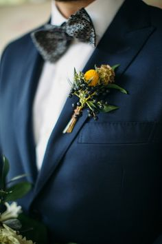 Yellow Boutonniere, Groom Boutonniere, Boutonnieres, Emerald Wedding Dresses, Groom Attire Black, Outer Banks Nc, Bride And Groom Pictures, Green Gown, Center Stage