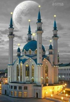 The blue  mosque  in Russia
