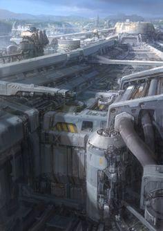 Sci Fi city concept art - paperblue