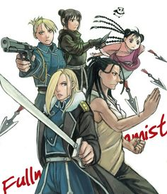 Women of FMA (excluding Winry and some others): Olivier Mira Armstrong, Izumi Curtis, Riza Hawkeye, Lan Fan, and Mei Chan