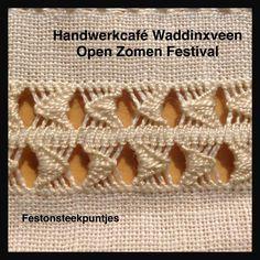 Handwerkcafé Waddinxveen: Zoom 14, festonsteek puntjes.