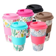 Eco-Friend Reusable Bamboo Fibre Ecoffee Cups Tea Coffee Mugs Travel Mug Eco Cup Macedonia, Mauritius, Montenegro, Puerto Rico, Sri Lanka, Coffee Shop, Coffee Cups, Eco Cup, Philippines