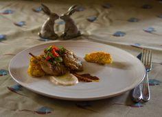 Mediterranean spiced quail with roasted red pepper sauce and crispy artichokes - Juanita - 2016 Masterchef Finalist
