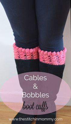 Cables and Bobbles Boot Cuffs pattern by Amy Ramnarine Cables and Bobbles Boot Cuffs ~ FREE Crochet Pattern Crochet Boots, Knit Boots, Crochet Gloves, Crochet Slippers, Crochet Bobble, Bobble Stitch, Free Crochet, Easy Crochet, Crochet Boot Cuff Pattern