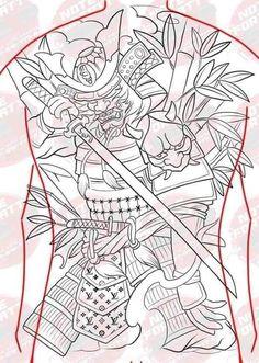Asian Tattoos, Samurai Tattoo, Skull Tattoos, Black And Grey Tattoos, Oriental, Japanese, Tattoo, Japanese Language, Black And Gray Tattoos