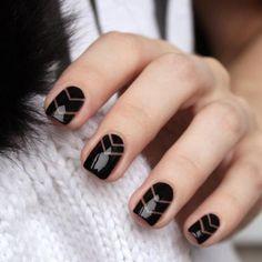 PINSPIRATION: semitransparante nail art is de nieuwst... (1)