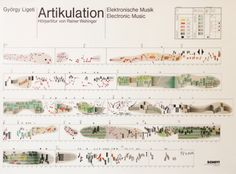 Artikulation ( vid ): the graphical score for Gyorgy Ligeti's electronic composition from 1958. It was produced by Rainer Wehinger twelve years after the original music was recorded.  (via notationnotes). Watch the video.