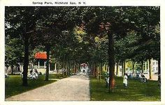 Richfield Spa New York NY 1920s Spring Park Collectible Antique Vintage Postcard