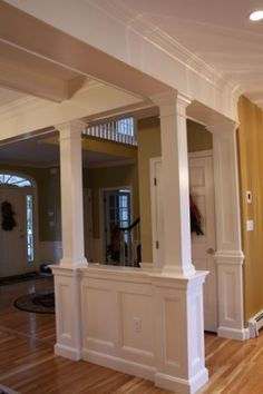 Living RoomDining Room Divider Cabinetry wStorage Columns
