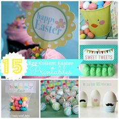15 Easter Printables from some of the best bloggers- all free too! Love these.