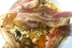 Squash risotto with chestnuts, sage and pancetta Risotto Rice, Chicken And Butternut Squash, Roasting Tins, Gluten Free Banana, Coriander Seeds, Cooking Time, Third, Kitchens
