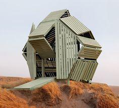 Entre oeuvre d'art et architecture, l'artiste et designer Michael Jantzen a imaginé M-Velope, un petit pavillon à l'architecture transformable. Ici aucune manipulation complexe n'est nécessaire, l'utilisateur déforme l'enveloppe et l'espace au g...