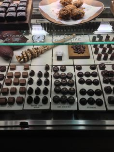 The place is so interesting. It is possible to watch how the chocolate it is made. It has so many kinds of chocolate to chose from and the display of delicacies is so wonderful.