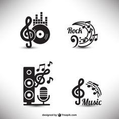 Elementos gráficos de música Vetor grátis
