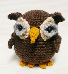 Woodland Owl Crochet Pattern by voodoomaggie on Etsy, $5.00