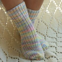 Hand knit socks Pastels by socksandmittens on Etsy, $21.99
