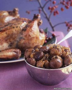 Roasted Chicken with Chestnuts
