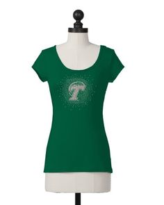 Tulane Green Wave | Tie Back Tee | meesh & mia