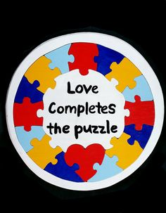 Autism Awareness PUZZLE listing at https://www.etsy.com/listing/98448681/autism-awareness-puzzle-wood-love