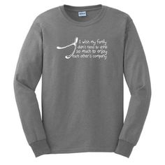 I Wish My Family Didnt Need to Drink So Much To Enjoy Each Others Company Long Sleeve T-Shirt Funny Thanksgiving Christmas Xmas Humorous Wishbone Turkey Santa Present Gift Ugly Sweater Long Sleeve Tee Large Sport Grey