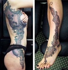 lace tattoo, lace and tattoos. Tattoo Girls, Tattoo Designs For Girls, Trendy Tattoos, Tattoos For Guys, Tattoos For Women, Random Tattoos, Elegant Tattoos, Tattooed Women, Owl Tattoos On Arm