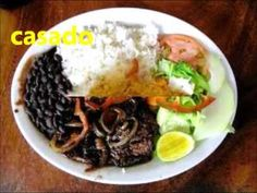 Spanish video with all types of typical Costa Rican foods - Fun song in video!