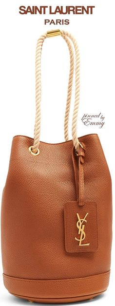 Brilliant Luxury ♦Saint Laurent Seau grained-leather bucket bag