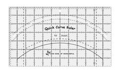 Quick Curve Ruler © - for when I forget how much I dislike cutting and sewing curved pieced quilts even though I love how they look  - by Sew Kind of Wonderful