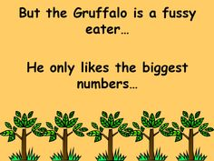 Comparing Numbers(with The Gruffalo): PowerPoint for younger children looking at number comparison Gruffalo Eyfs, Gruffalo Activities, The Gruffalo, Counting Activities, Kindergarten Science, Teaching Math, Julia Donaldson Books, Maths Eyfs, Gruffalo's Child