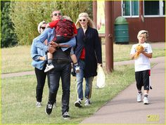 Gwen Stefani and Gavin Rossdale take their boys to a safari park in London on July 31, 2013