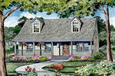Craftsman Style House Plan - 3 Beds 2.5 Baths 1040 Sq/Ft Plan #456-9 Exterior - Other Elevation - Houseplans.com