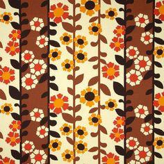 Retro Bloemen (bruin/oranje)
