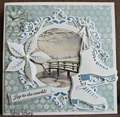 Sylvia's Kaartenpret Company Christmas Cards, Christmas Card Crafts, Christmas Cards To Make, Xmas Cards, Handmade Christmas, Pop Up Box Cards, 3d Cards, Beautiful Christmas Cards, Embossed Cards