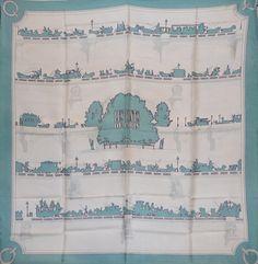 Hermès Les ponts de paris Silk scarf squarre