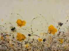 Original Encaustic painting Art Floral Spring by SwallaStudio, $99.00