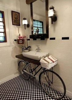 Riciclo creativo per arredare il bagno
