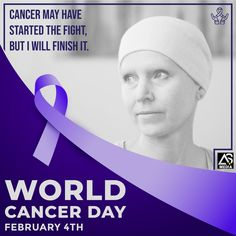 Let's raise awareness of Cancer and encourage it's prevention, Detection and Treatment. World Cancer Day, Cancer Fighter, Encouragement, Advertising, Branding, Let It Be, Digital, Brand Management, Identity Branding