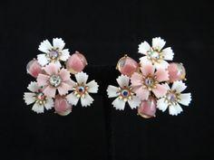 Stunning Coro Pink Rhinestone Flower Clip by SecondWindShop, $18.50
