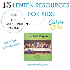 This Last Supper Puzzle makes a perfect family activity for Holy Thursday! http://www.catholicchild.com/THE-LAST-SUPPER-PUZZLE/productinfo/20132/