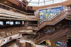 Costa Concordia: Photographer takes eerie pictures aboard abandoned cruise liner Abandoned Ships, Abandoned Places, Bergen, Australia Weather, Costa, Bottom Of The Ocean, Haunting Photos, Ghost Ship, Shipwreck