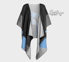 Veste de soie Cardigan kimono drapé kimono par CreationLissaDesign Kimono Jacket, Kimono Top, Chiffon Fabric, Printing On Fabric, Stylish, Sweaters, Jackets, How To Wear, Fashion